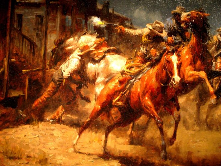 Cowboy And Horse Art By Pat Erickson Watercolor And