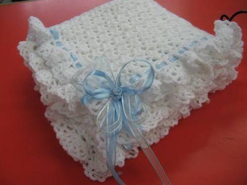 Mantilla Para Bebe Tejida Al Crochet (o Manta Para Cuna) - $ 550 ...