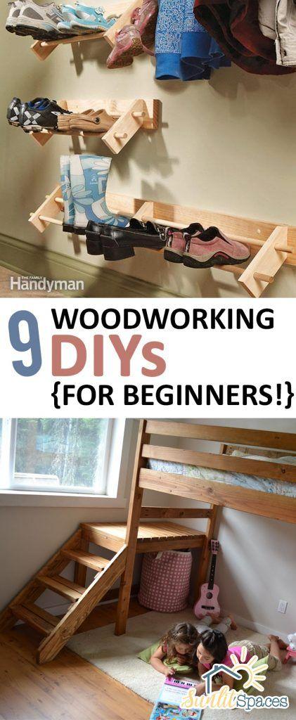 9 Woodworking DIYs {for Beginners!}