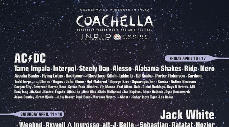 Coachella 2015 Lineup Announcement Author: You Me and Charlie · January 6th, 2015