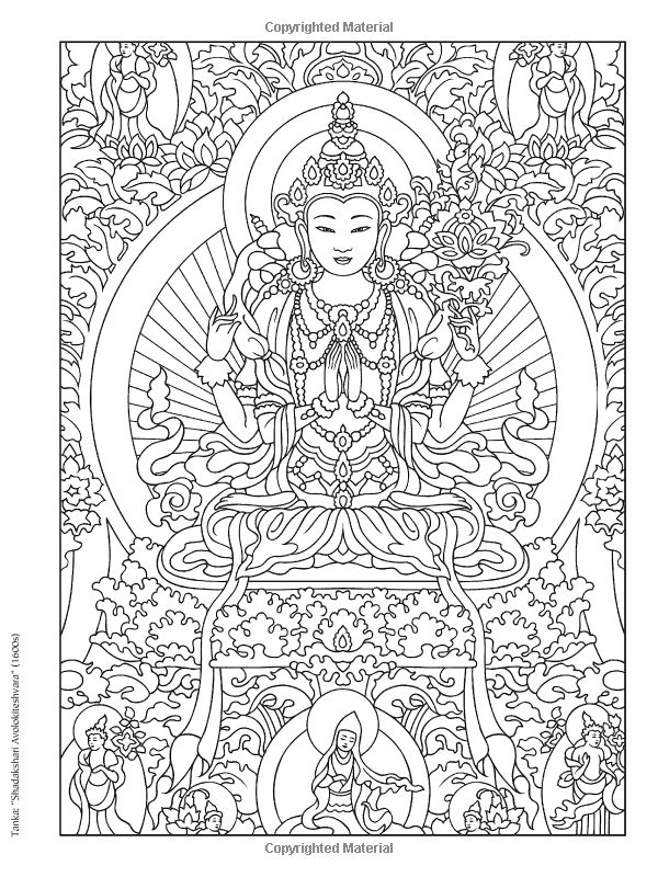 462 best images about coloring pages on pinterest dovers for Tibetan mandala coloring pages