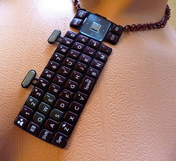Red Cell Phone Keypad Necklace by ~Divulged