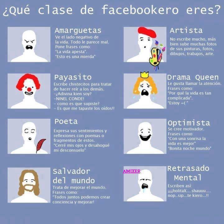 Y tú, qué clase de usuario de #Facebook eres? (si es que eres alguno, claro...)