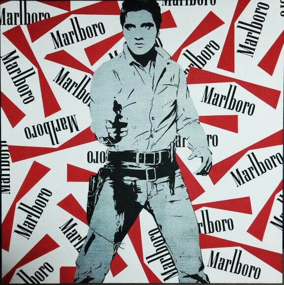 Elvis Presley Acrylic on canvas 100x100cm #Presley #painting #streetart #popart #marlboro #icons #usa #music #gallery #