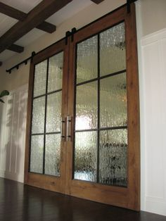 Custom Made Track Doors For Wine Country Estate