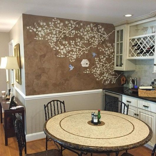 202 best Stenciled Painted Kitchens images on Pinterest
