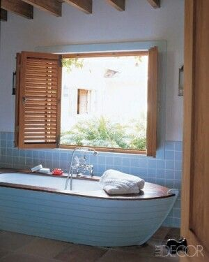 Creative Beadboard - Row Boat Bath !