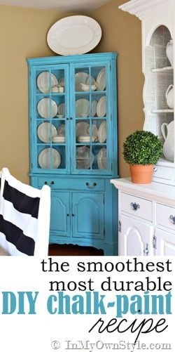 This is the best !   If you want a durable finish - this is the recipe to use when making your own DIY chalk-paint.