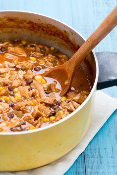 Enchilada Lovers Will Eat Up This Carnitas Enchilada Soup  - Delish.com