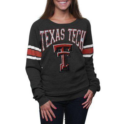 Texas Tech Red Raiders Women's Slouchy Pullover Sweatshirt - Charcoal