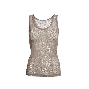 ANASTASIA tanktop full lace, mushroom. Sleeveless top in full lace. Use it under a cool jacket so the lace is to be seen.  Made of modal which is coloured by the eco-tex 100 standards.