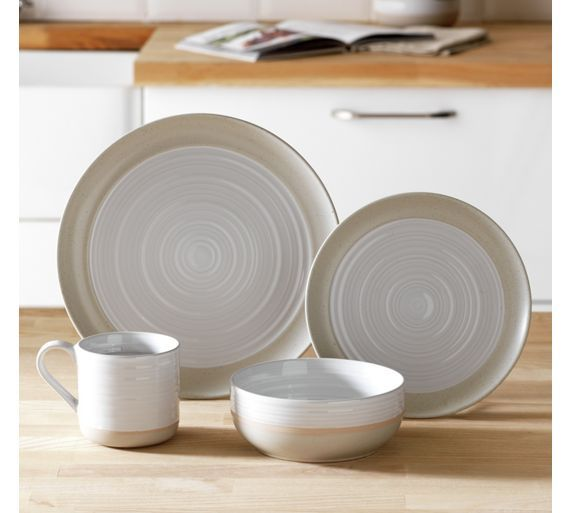 Buy Heart of House Purton 16 Piece Stoneware Dinner Set - White at Argos.co.uk, visit Argos.co.uk to shop online for Crockery, Tableware, Cooking, dining and kitchen equipment, Home and garden