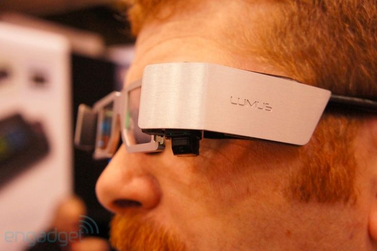 Lumus See-through Wearable Display. Browse the web as you walk. #future #technology #glasses