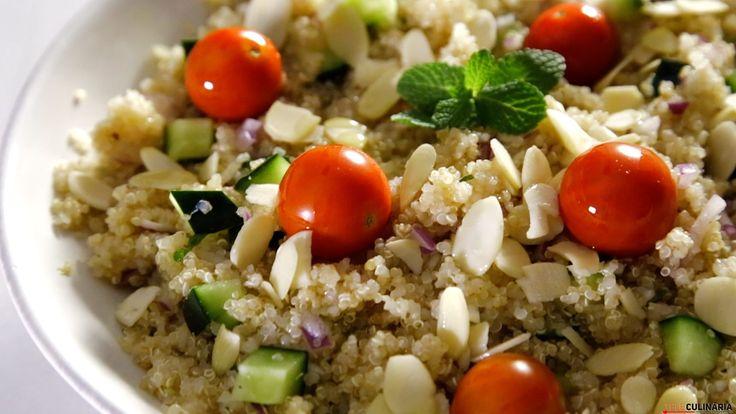 Receita de Salada de quinoa. Descubra como cozinhar Salada de quinoa de maneira prática e deliciosa!