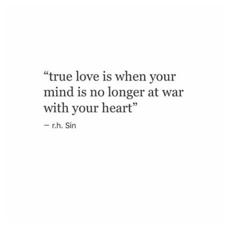 True love. r.h Sin