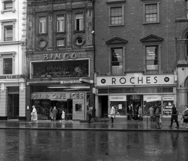 The Pillar Cafe, Roches Chemists, O'Connell Street, 1964