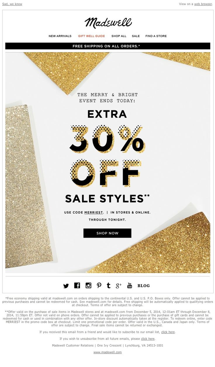 Madewell - Extra 30% off sale styles won't last forever