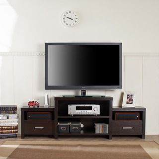Furniture of America Brixten Tiered Cappuccino Entertainment TV Console - Overstock™ Shopping - Great Deals on Furniture of America Entertainment Centers