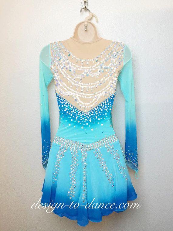Frozen Elsa 4 Custom Figure Skating Dress/ by DesigntoDance $239.00