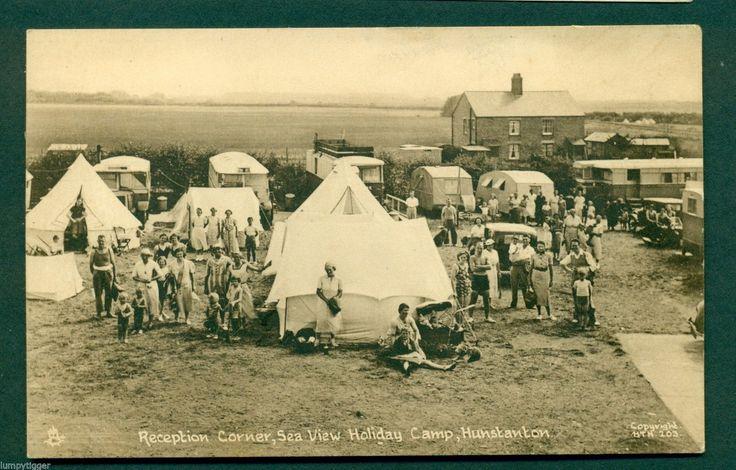 HUNSTANTON,SEA VIEW HOLIDAY CAMP,RECEPTION CORNER, vintage postcard | eBay