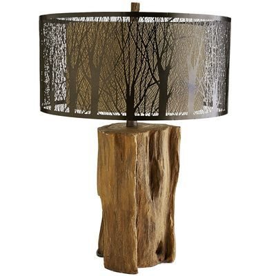 Etched Birches Table Lamp Trees Glow And Landscapes