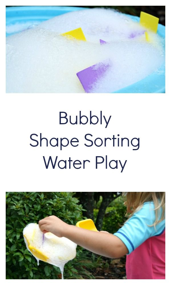 Bubbly Shape Sorting Water Play Activity from Fantastic Fun and Learning