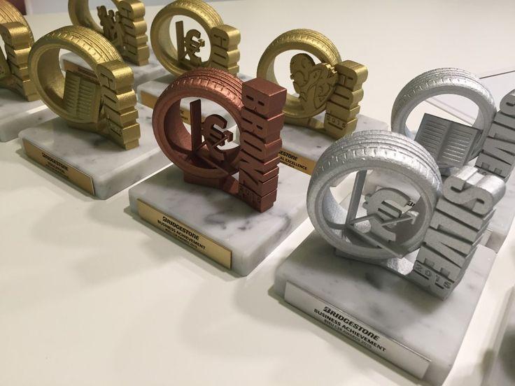 Gemaco - Unides - Bridgestone - corporate 3D printed trophies 2