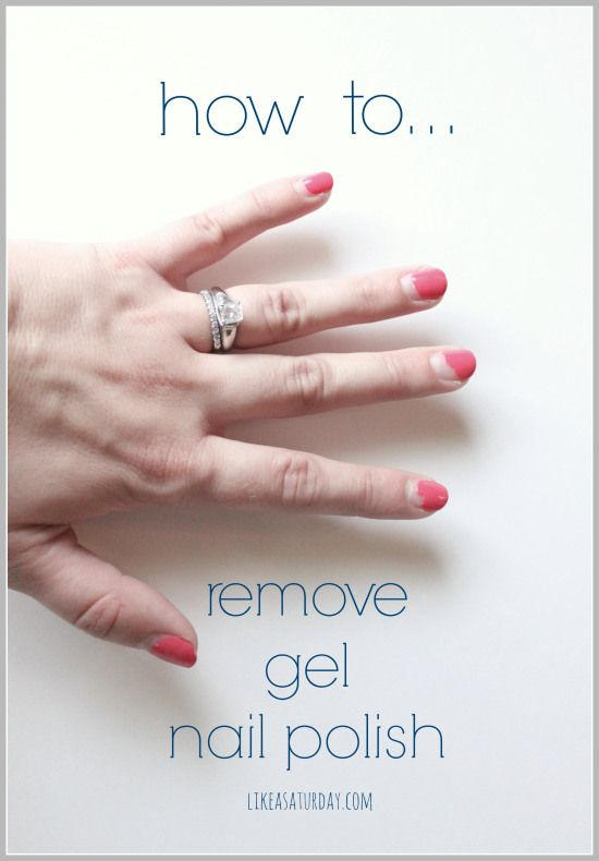 how to remove gel nail/shellac polish. Tip, tile the top of your nails first.