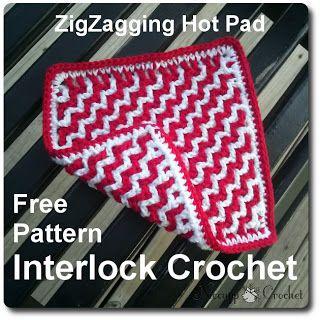 ZigZagging Hot Pad - Free Crochet Pattern - Niccupp crochet