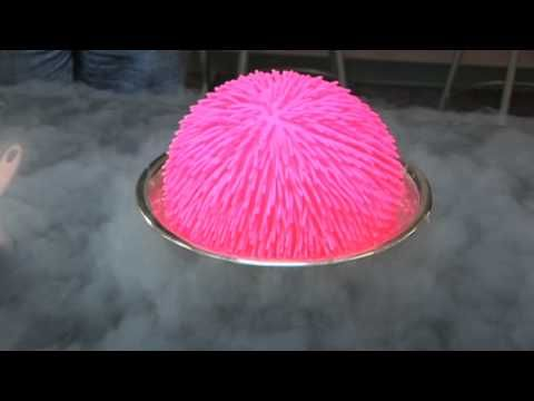 Giant Koosh Ball in Liquid Nitrogen! (Obviously can't recreate at home, but gives good reasons/thoughts about experiments.)