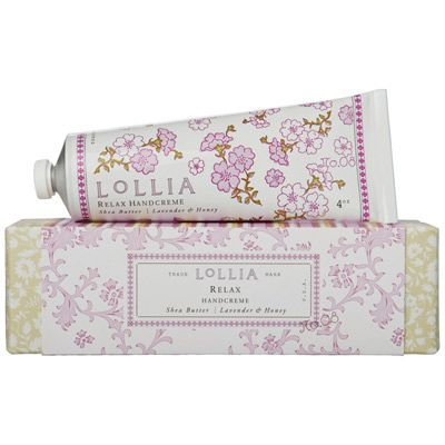 Lollia Relax Shea Butter Handcreme - Love the Lavender and Honey smell.  I put it on every night!