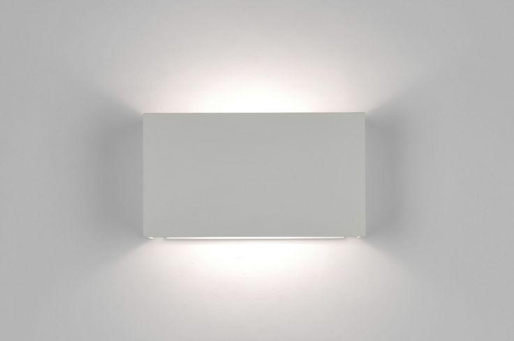 Applique Murale 71135: Moderne, Design, Acier, Blanc