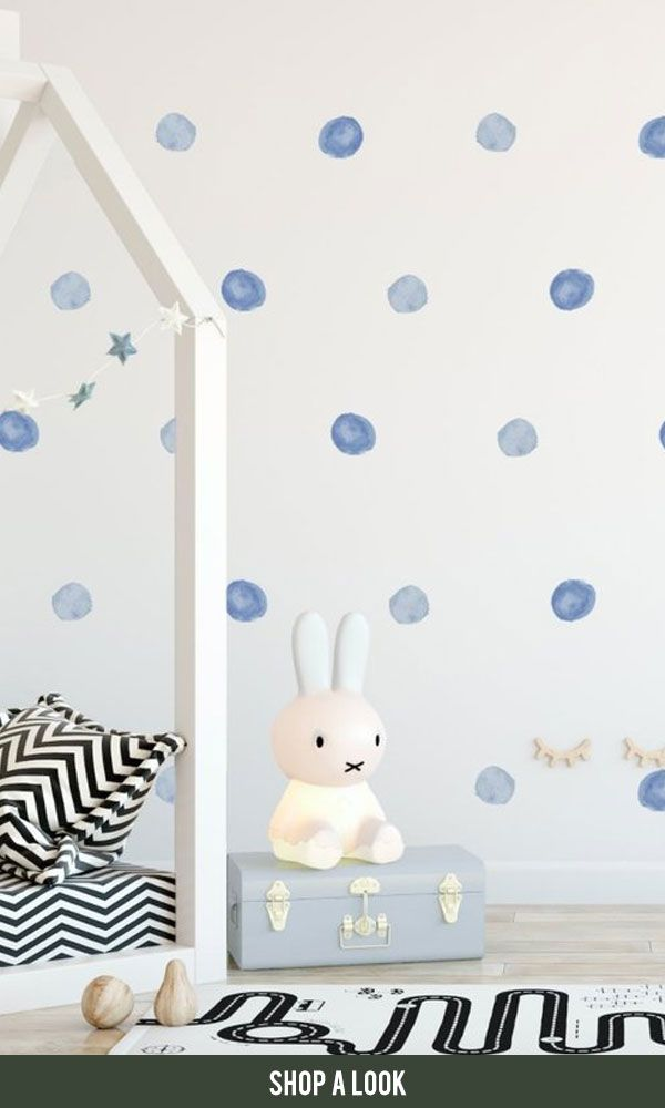 Nursery Wall Decal Watercolor Dot Decals Spot Decal Home Decor