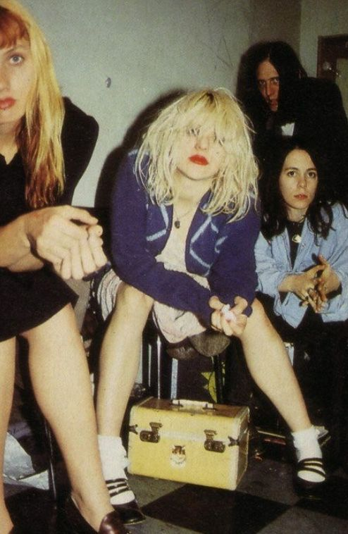 Courtney Love's socks and Mary-Janes combo pretty much influenced my thing.