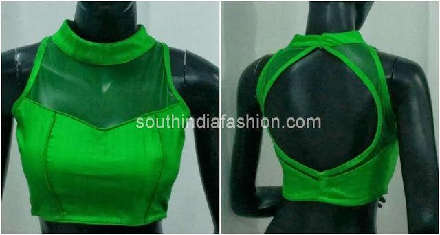 Readymade High Neck Saree Blouses ~ Celebrity Sarees, Designer Sarees, Bridal Sarees, Latest Blouse Designs 2014