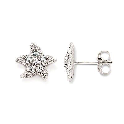 These starfish earrings are the perfect amount of subtle summer shine. #THOMASSABO