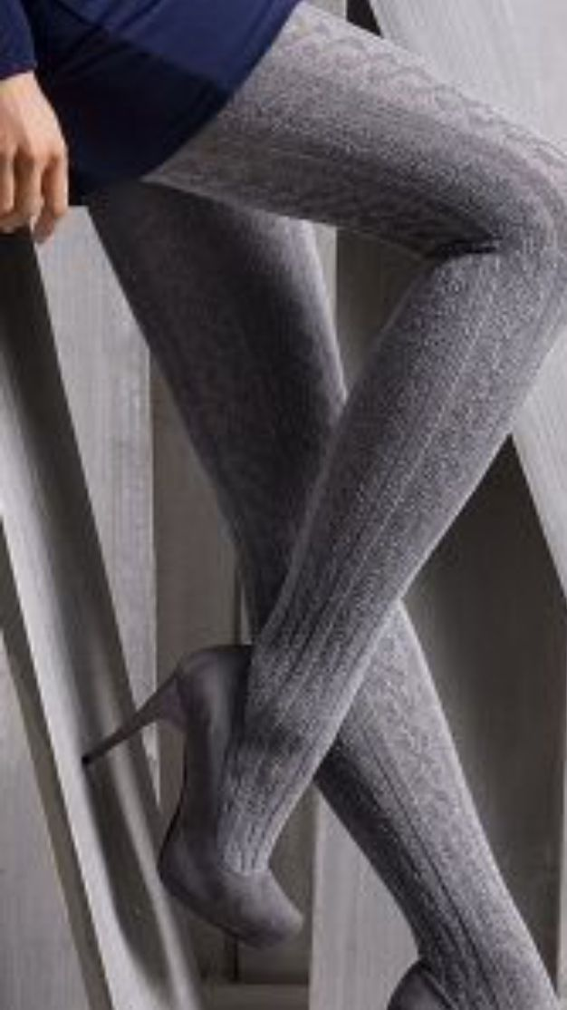 Pictures girls black woolen stockings — pic 13