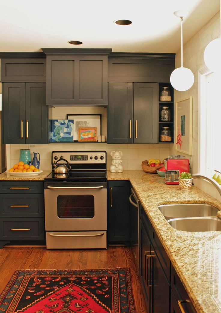 Sherwin Williams Brainstorm Bronze Colour Kitchen