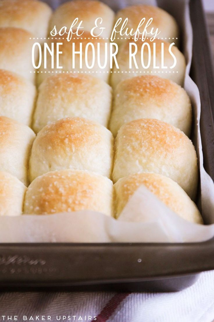 Soft and fluffy one hour rolls - The Baker Upstairs | you will not believe that these fantastic rolls take only an hour to make!
