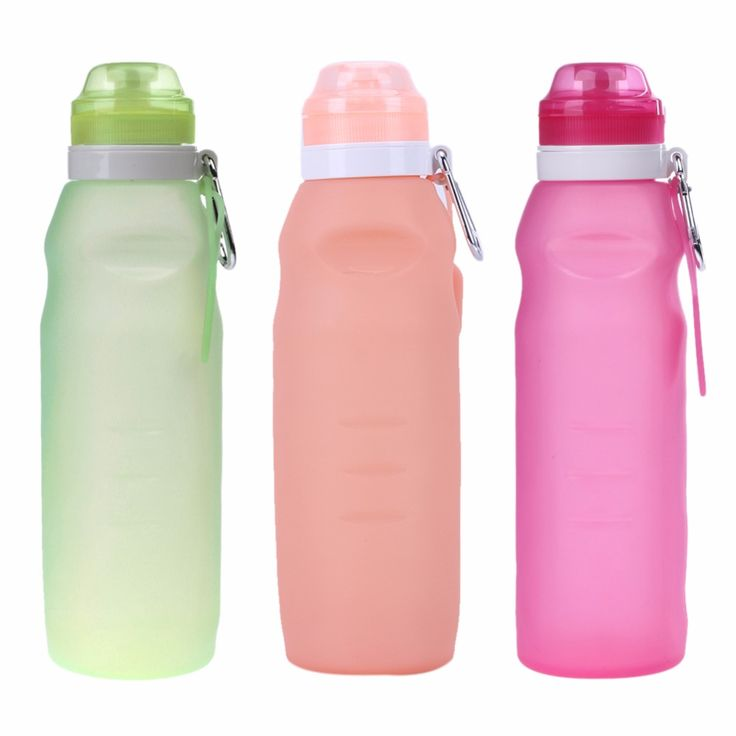 Russian Fashion 650ML Foldable Leakproof Water Bottle Kettle Outdoor Sport Camping Silicone Folding Gym Water Bottle #Affiliate