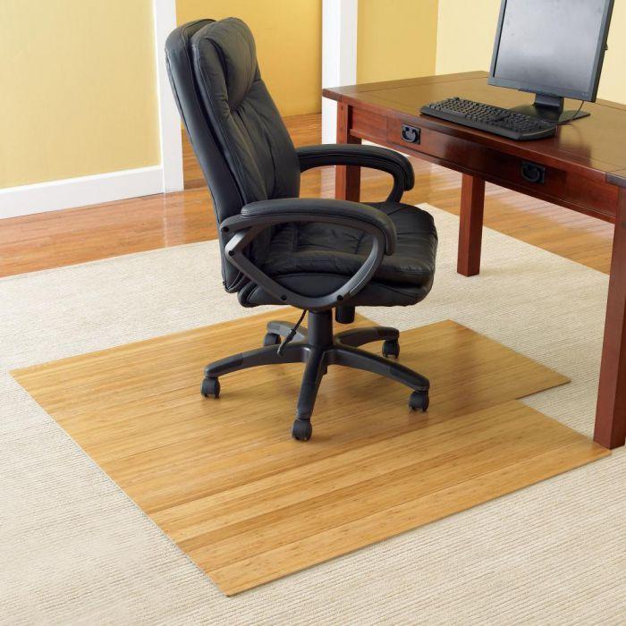 Wooden Hardwood Floors Office Chair Mat Contemporary Home Office