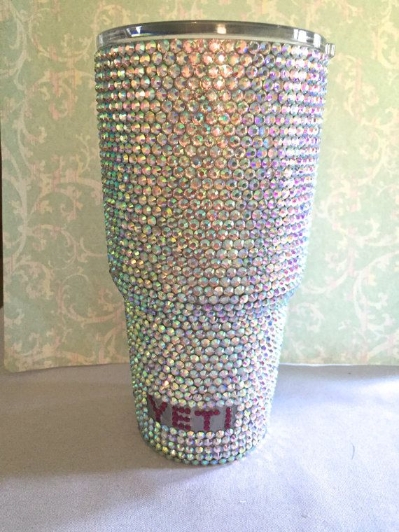 http://www.2uidea.com/category/Yeti-Tumbler/ SALE Rhinestone Yeti 30 oz Rambler Tumbler by DazzleDen on Etsy