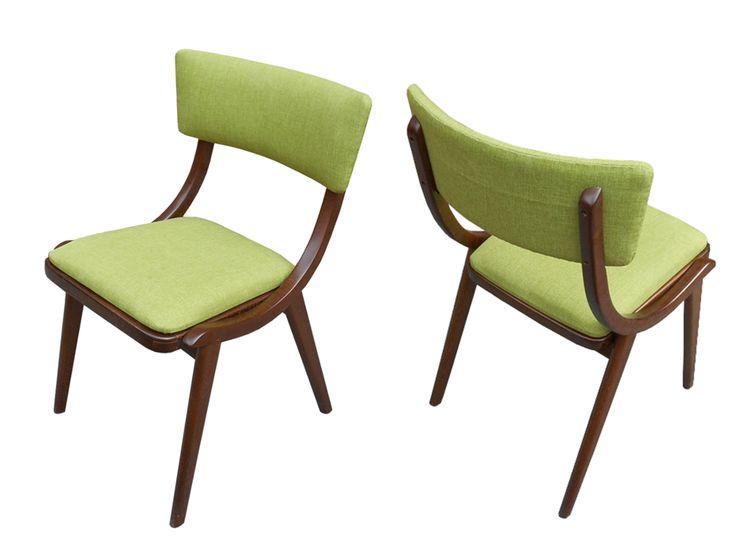 Krzesło / Stuhl Adam | B.T. Meble  ➥ Krzesło, lata 60-te, po dokładnej renowacji stolarskiej i tapicerskiej ➥ Dieser Vintage-Stuhl stammt aus den 60ern, gebaut in ungewöhnlichem zeitlosen Design. Von uns liebevoll renoviert und instandgesetzt. Das Gestell ist aus lackiertem Buchenholz.