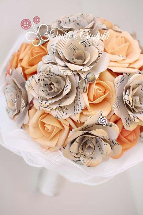 Bouquet Sposa Carta.Bouquet Con Fiori Di Carta Ecco I Piu Belli E Originali