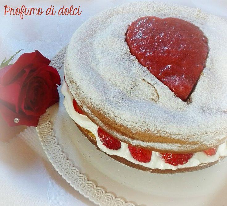 Torta+alle+fragole+e+panna