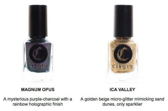 Cirque | Alchemy Collection | releases Oct 23 | Magnum Opus (l) & Ica Valley (r)