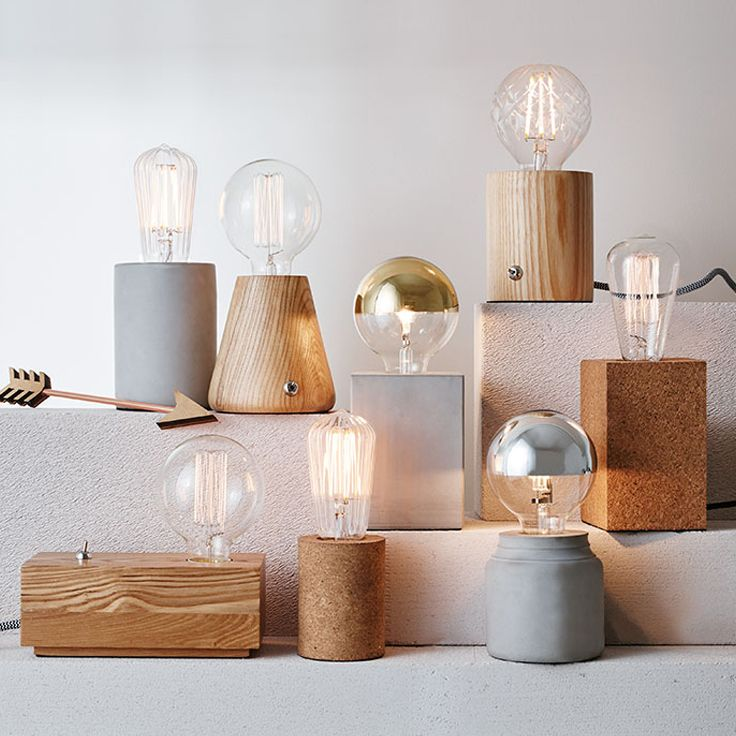 The Beacon Lighting Hans 1 light cylinder table lamp in cork.