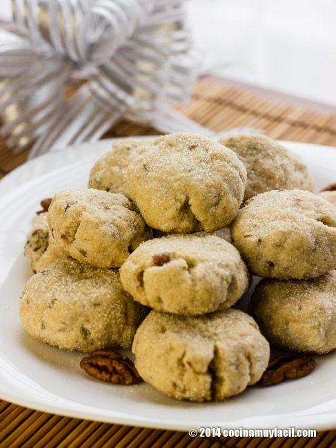 Polvorones de nuez (Mexican Christmas Cookies). Receta para Navidad | Cocina Muy Fácil | http://cocinamuyfacil.com
