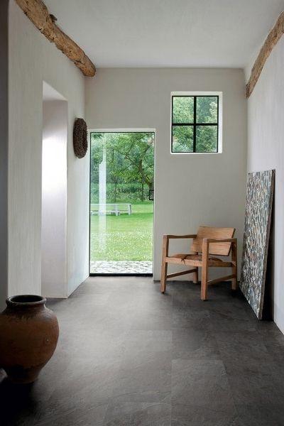 lame vinyle quick step livyn ambient click ardoise noire amcl40035 bricoflor - Laminatboden Pro Und Kontra 2014