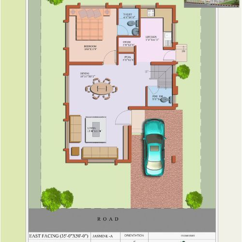 South Facing Home Plan Elegant Building Plans As Per Vastu For South Facing Escortsea 2bhk House Plan 20x40 House Plans Family House Plans